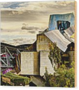 sunset at the marques de riscal Hotel - frank gehry Wood Print