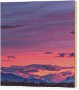 Sunset At The Ranch #2 - Patagonia Wood Print