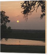 Sunset At The Southern Star Ranch Wood Print