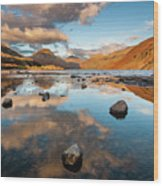 Sunset at Wast Water #3, Wasdale, Lake District, England Wood Print