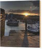 Sunset At West Bay Harbour Wood Print