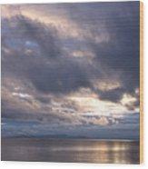 Sunset At White Rock Wood Print