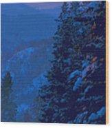 Sunset At Zero Wood Print