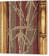 Sunset Bamboo With Frame Wood Print