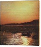 Sunset Bay  Wood Print