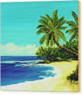 Sunset Beach Art North Shore Of Oahu In Summer #100 Wood Print