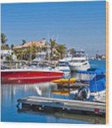 Sunset Beach Bolsa Bay Wood Print