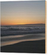 Sunset Beach California Wood Print