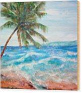 Sunset Beach Hawaii Wood Print