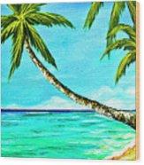 Sunset Beach#370  Wood Print