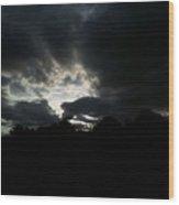 Sunset Beauty At Tsavo East National Park Wood Print