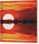Sunset Behind The Trees At Kempenfelt Bay Two  Wood Print