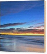 Sunset Blue Wood Print