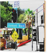 Sunset Blvd Wood Print