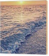 Sunset Bowman Beach Sanibel Island Florida Vintage Wood Print