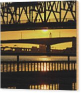 Sunset Bridge 2 Wood Print