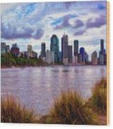 Sunset Brisbane Wood Print