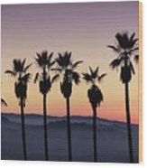 Sunset By La Wood Print