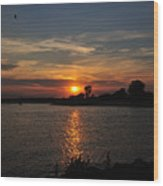 Sunset By The Inlet Wood Print