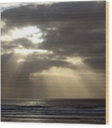 Sunset By The Sea Photograph Wood Print