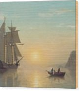 Sunset Calm in the Bay of Fundy Wood Print