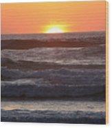 Sunset Cannon Beach Wood Print