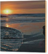 Sunset Capture Wood Print