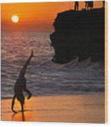 Sunset Cartwheel Wood Print
