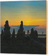 Sunset Castles Wood Print