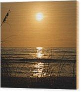 Sunset On Barefoot Beach Wood Print