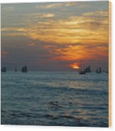 Sunset Celebration Key West Fl Wood Print