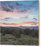 Sunset Cerillos Wood Print
