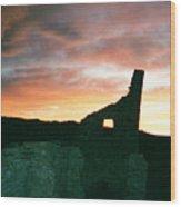 Sunset Chaco Canyon Wood Print