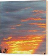 Sunset Christchurch New Zealand Wood Print