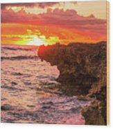 Sunset Cliff Wood Print