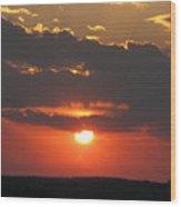 sunset CLO 108 Wood Print