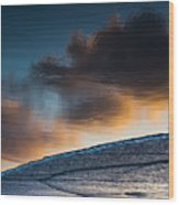 Sunset Clouds Reflect Wood Print