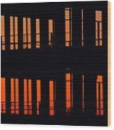 Sunset Color In The Spaces 2  Wood Print