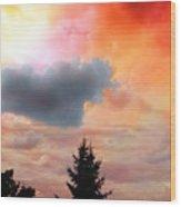 Sunset Colors Wood Print