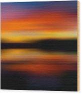 Sunset Colors - Impressionistic Wood Print