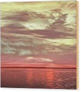 Sunset Colors On The Bay Wood Print