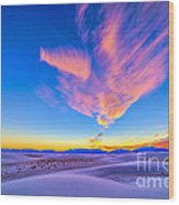 Sunset Colors Over White Sands National Wood Print