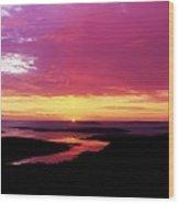 Sunset, Connemara, Co Galway, Ireland Wood Print