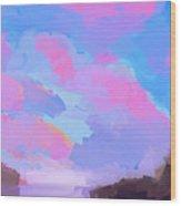 Sunset Cove  Wood Print