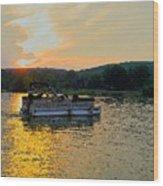 Sunset Cruising Wood Print