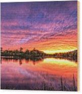 Sunset Culpeper Va Wood Print