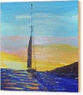 Sunset D2 Wood Print