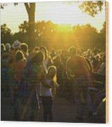 Sunset Dancing Wood Print