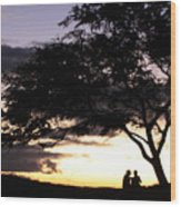 Sunset Date Night Wood Print