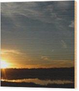 Sunset Dawn Wood Print